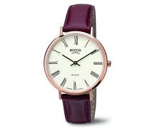 Damen-Armbanduhr Analog Quarz Leder 3590-07