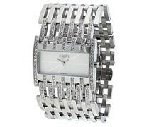 M&M Damen-Armbanduhr Analog Quarz Edelstahl M11652-192