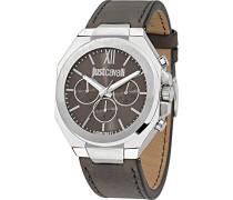 JUST CAVALLI Herren-Armbanduhr Strong Analog Quarz Leder R7251573002