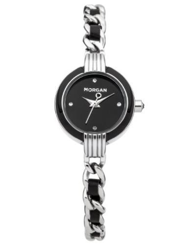 Damen-Armbanduhr -M1209B-Montre femme-Analogique-Boitier métal avec émail noir-Cadran n