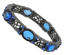 schwarz, Montana Blue, Light Sapphire Kristall, Stretch, 17 cm