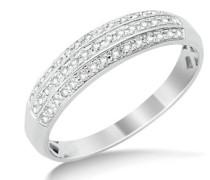 Damen-Ring 9 k (375) Weißgold Rundschliff Diamant