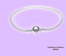 Damen-Armband mit Kugelverschluss, glatt 925 Silber 16 cm-590728-16