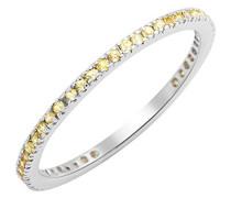 Damen-Ring 9 Karat (375) Weißgold Saphir, verstellbar, Dreiecke, MKW9021R4, gelb