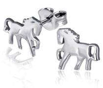 -Charmohrstecker Pferde 925 Sterlingsilber Ohrringe Schmuck