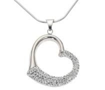 Crystelle Damenanhnger Herz mit Kette 925 Sterling Silber 42-47cm Swarovski Kristalle 500250492