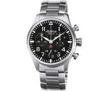 Herren-Armbanduhr Chronograph Quarz Edelstahl 372B4S6B