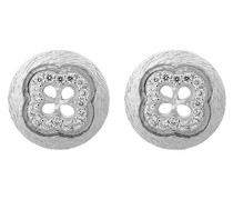 Damen-Ohrstecker 925 Sterling Silber rhodiniert mattiert Zirkonia weiß ZO-5256