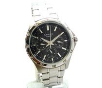 Casio-she-3801d-1aef-SHEEN Damen-Armbanduhr-Quarz Analog-Zifferblatt schwarz Armband Stahl Grau