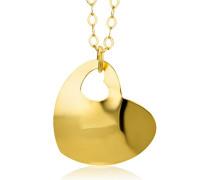 Damen-Halskette Herz 375 Gelbgold, 46 cm