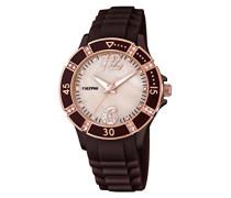 Damen-Armbanduhr Analog Plastik Braun K5650/A