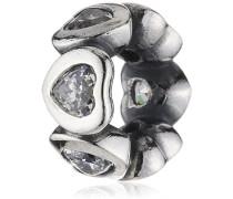 Damen-Bead 925 Sterling Silber Zirkonia weiß 791252CZ