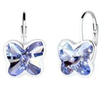Damen-Ohrhänger Schmetterling 925 Sterling-Silber Kristall lila Facettenschliff
