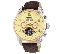 Ingersoll Herren-Armbanduhr XL Chronograph Automatik Leder IN4514RCR