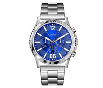 Caravelle New York Herren-Armbanduhr Chronograph Quarz Edelstahl 43A116