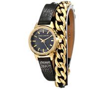 Damen-Armbanduhr Analog Quarz Schwarz VC-5220GPBK