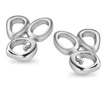 Damen-Ohrstecker 925 Sterling Silber Zirkonia wei ZO-5017