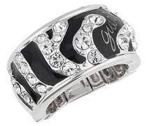 Damen-Ring Metall Kunststoff Zirkonia
