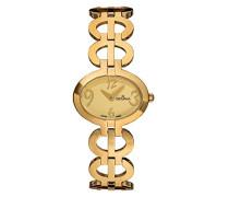 4566.1111 Women'mit schweizer Uhr Armbanduhr Analog Quarz Edelstahl Armband vergoldet
