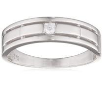 Damen-Ring 9 Karat 375 Weißgold Rundschliff weiß R1638WN