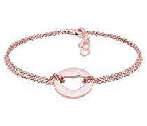 Armband Herz Liebe Münze 925 Silber rosé vergoldet 0201140417