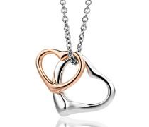 Damen-Halskette mit Herzanhänger 925 Sterling Silber 46cm