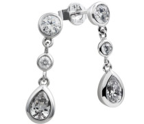 Diamonfire Damen-Ohrhänger 925 Sterling Silber Zirkonia Classic Linie weiß 62/1116/1/082