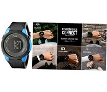SMARTWATCH Mod. CONNECT UNISEX BLUETOOTH DIGITAL SILICON -LEATHER STRAP 3 ATM 44mm