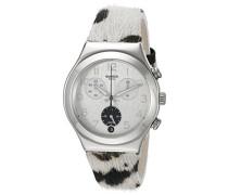 Unisex-Armbanduhr Chronograph Quarz Leder YCS585