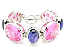 Damen Armband 925 Sterling Silber Zirkonia mehrfarbig
