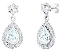Damen-Ohrringe Ohrstecker Tropfen Glamour Elegant Funkelnd Zirkonia Steine silber 925