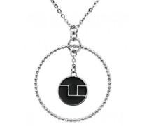D41081N  Damen-Halskette mit Anhänger Edelstahl Zirkonia