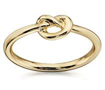 Costume Damen Gold Knoten Ring–Größe L, gold, M