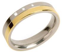 Boccia Unisex-Ring You and me Titan teilvergoldet Diamant (0.015 ct) weiß Brillantschliff Gr. 69 (22.0) - 0129-0469
