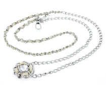 JEWELS D&G CHAINS NECKLACE SILVER COLOR - 2 CHAIN DJ0309 female