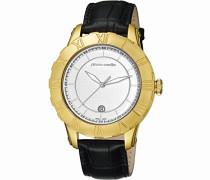Herren-Armbanduhr Parangon Analog Quarz Leder Swiss Made