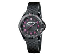 Damen-Armbanduhr Squadron Lady Analog Quarz Silikon 01.0121.105