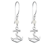 Damen-Ohrhänger Anker 925 Sterling Silber Süßwasserzuchtperle 0303730112