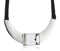 Dyrberg/Kern Damen Halskette Versilbertes Metall Kristall Glaskristall 336111