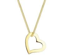 Premium Damen-Kette mit Anhänger Herz 375 Gelbgold - 0109970214_45