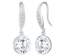 Damen Ohrhänger 925 Sterling Silber Zirkonia Kristall weiß Brillantschliff 0306891213