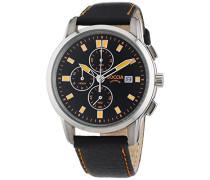 Herren-Armbanduhr XL Titanium Chronograph Quarz Leder 3763-02