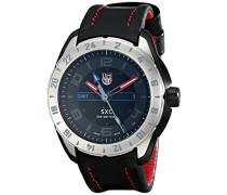 Herren-Armbanduhr SXC GMT STEEL Analog Quarz Leder 5127