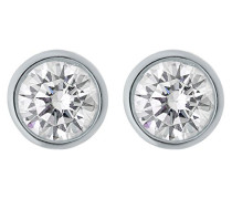 Damen-Ohrstecker 925 Silber rhodiniert Zirkonia weiß Rundschliff - ZO-6079