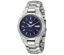 Seiko-snk603k1-5 Gent-Herrenuhr-Automatik Analog Stahl, blaues Zifferblatt, graues Armband