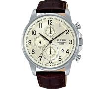 Herren-Armbanduhr Analog Quarz Leder PM3071X1