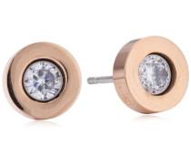 TOM TAILOR Damen-Ohrstecker Vergoldetes Metall Swarovski-Kristall weiß TT31041SPZ