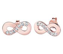 Damen Ohrringe Unendlichkeit Liebe Freundschaft Liebesbeweis 925 Sterling Silber Swarovski Kristalle rosevergoldet