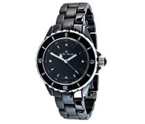 Damen-Armbanduhr Analog Keramik Schwarz STM11-012-2