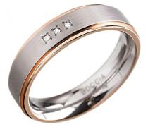 Boccia Unisex-Ring Titan Diamant (0.015 ct) transparent Brillantschliff Gr. 66 (21.0) - 0134-0266